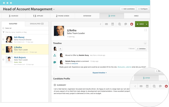 workable dashboard
