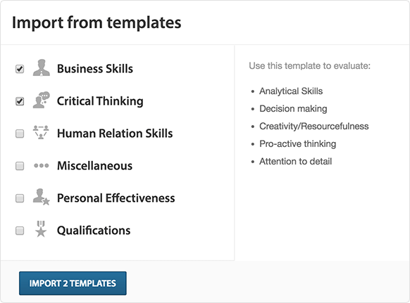 Use Templates For Consistent Assessments