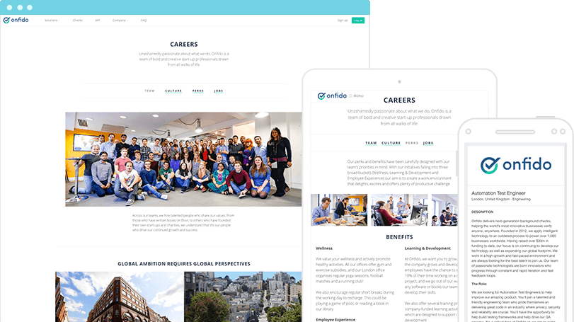 Create Beautiful Careers Pages Features