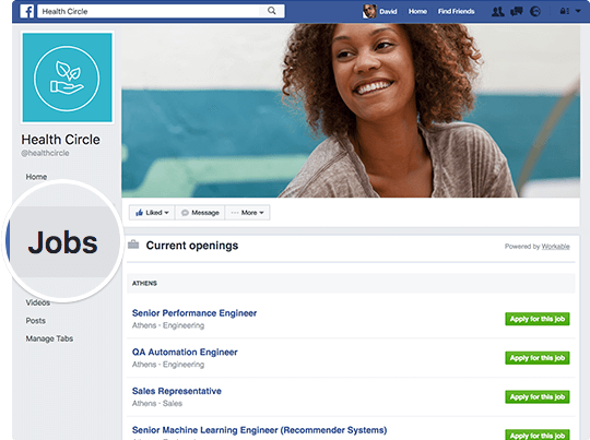 Adding a Facebook Jobs Tab to your careers page is one more way for candidates to discover great jobs at your company.